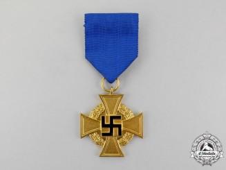 A Third Reich Period German 40-Year Faithful Long Service Cross; First Class