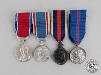Four Coronation/Jubilee Miniature Medals