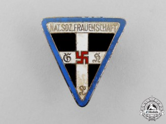A Second War Orts Level National Socialist Women's League Membership Badge by Afred Stubbe