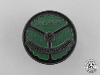 An Absolutely Mint NSKK Wartime Female Truckdriver's Identification Badge by Wächlter & Lange