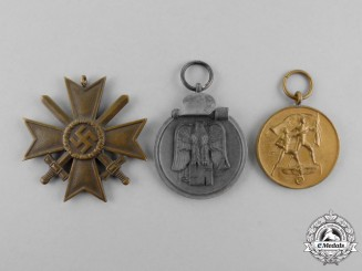 Three Second War German Medals, Awards, and Decorations
