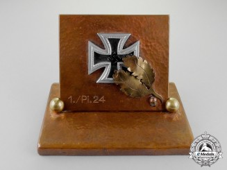 Germany. A Knight's Cross of the Iron Cross 1939 Desk Ornament
