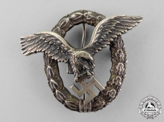 An Early Luftwaffe Pilot's Badge by Brüder Schneider of Wien