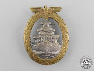 A Kriegsmarine High Seas Fleet Badge by Schwerin of Berlin