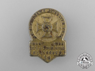 """A Founding Ceremony of the """"Veteran and Soldiers Society"""" Badge"""