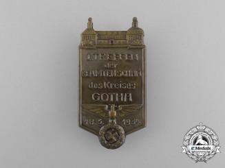 Germany, Third Reich. A 1934 German Civil Servants Meeting in Gotha Badge