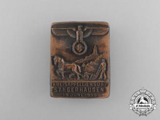 A 1939 NSDAP Sangerhausen Kreisappell Badge