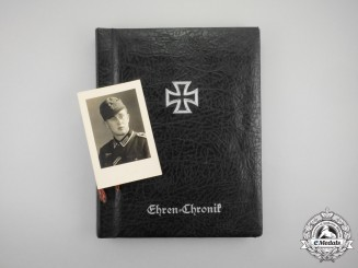 "An Fantastic Honour Chronicle for the ""Großdeutschland"" Regiment; Gefreiter Karl Heinz Wedekind"