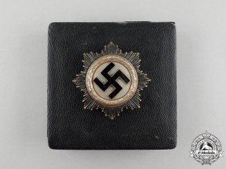 A German Cross in Silver by Fritz Zimmermann of Stuttgart; Light Version in its Case of Issue