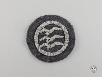 "A Second War German Civil Gliding Class ""C"" Proficiency Badge; Cloth Version"