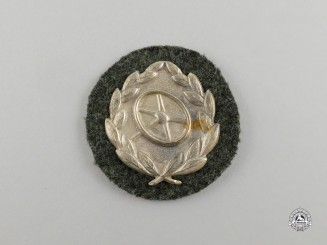 An Unissued Wehrmacht Heer (Army) Silver Grade Driver's Proficiency Badge