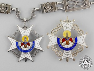 Spain. An Order of St. Raymond of Peñafort, Collar Set, c.