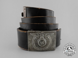 An SS Enlisted Man's Belt with Buckle by Overhoff & Cie