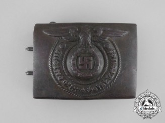 An Early SS Enlisted Man's Belt Buckle by Overhoff & Cie