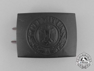 A Mint Kriegsmarine Enlisted Man's Belt Buckle by Overhoff & Cie