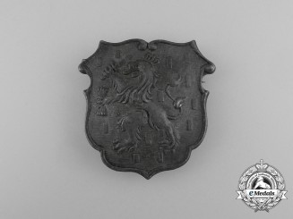 A Large First War Period Dutch Cap Badge
