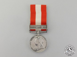 United Kingdom. A Canada General Service Medal to Private Henry Thurston, 14th Battalion