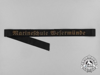 A Full Length Marineschule Wesermünde Cap Tally