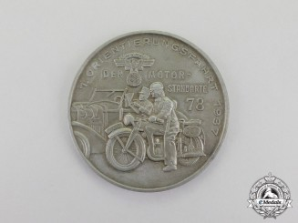 Germany. A 1937 NSKK 7th Orientation Cruise of the 78th Motor Standard Table Medal by Balmberger