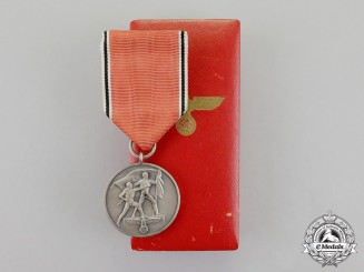 Germany, Third Reich. An Austria Anschluss Commemorative Medal in its Case of Issue