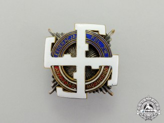 Poland. A Third Reich Period Veterans Organization Honour Badge by W. Miecznik