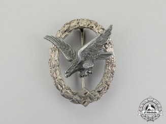 Germany. A Luftwaffe Air Gunner Badge (Without Lightning Bolts) by Wilhelm Deumer