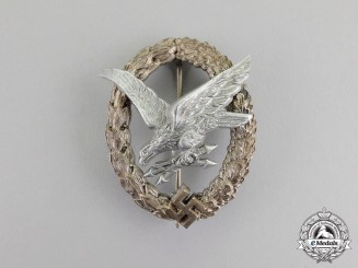 Germany. A Rare Luftwaffe Radio Operator & Air Gunner Badge, Cupal Wreath