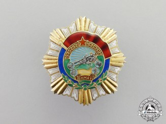 Mongolia. An Order of the Red Banner of Labour Valour, c. 1945