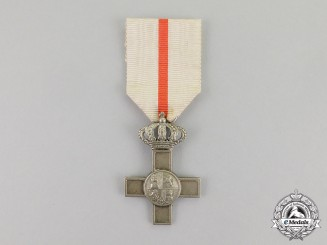 Spain. An Order of Military Merit, Silver Cross with White Distinction, Type IV (1875-1931)