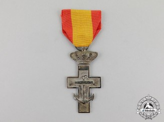 Spain. An Order of Naval Merit, Silver Cross, Type II (1891-1931)