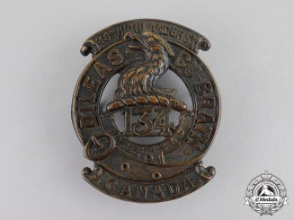 "Canada. A 134th Infantry Battalion ""48th Highlanders"" Glengarry Badge, c.1915"