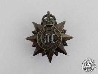 Canada. A Victoria Rifles of Canada Cap Badge, c.1917