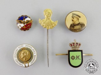 Serbia. Five Early 20th Century Pins & Badges