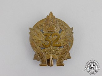 "Canada. A CEF 32nd Infantry Battalion ""Manitoba and Saskatchewan Regiment"" Cap Badge, c.1915"