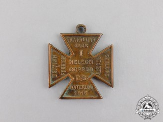 Great Britain. A Sailors Society Cross Commemorating the Anniversaries of the Battles of Trafalgar and Waterloo 1915