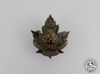 "Canada. A CEF 24th Infantry Battalion ""Victoria Rifles"" Cap Badge, c.1915"