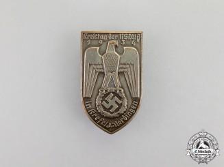 Germany. A 1936 NSDAP Kresfeld-Ürdingen District Council Day Badge