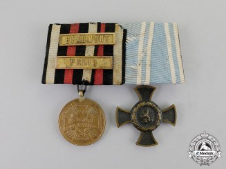 Germany. A Prussian and Bavarian Campaign Medal Bar