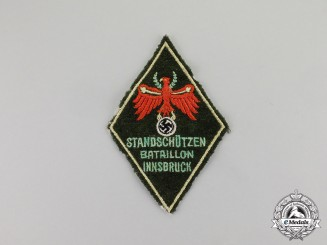 "Germany. An Innsbruck Voluntary Home Defense ""Standschütze"" Sleeve Patch"