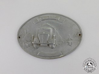 Germany, Heer. A Kraftwagen Transport Regiment 616 Plaque