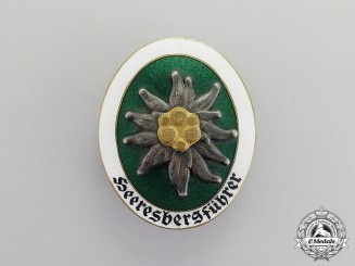 Germany. A Scarce Wehrmacht Alpine Leader Badge by Deschler