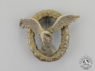 Germany. An Early Quality Luftwaffe Pilot's Badge by Friedrich Linden
