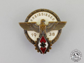 "Germany. A 1938 HJ Victor's ""Kreissieger"" Badge in the National Trade Competition"