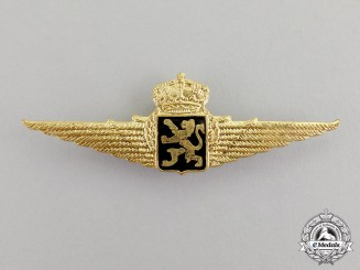Belgium. An Officer's Pilot Badge