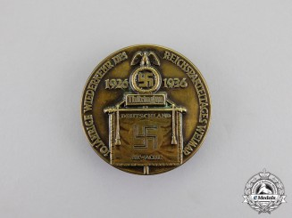 Germany. A 1936 10-Year Anniversary of the Reich Party Day in Weimar Badge