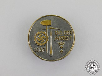Germany. A 1937 Danzig DAF Day of Labour Badge