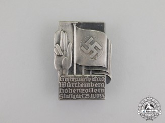Germany. A Württemberg-Hohenzollern Regional Party Day Badge