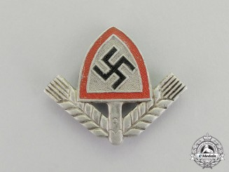 Germany. A RAD (National Labour Service) Cap Badge by Berg & Nolte