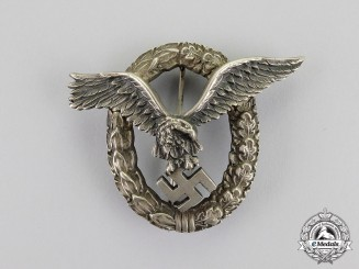 Germany. A Fine Early Quality Manufacture Luftwaffe Pilot's Badge by C. E. Juncker of Berlin