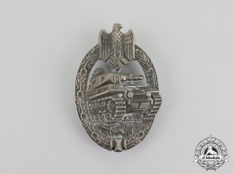 Germany. A Silver Grade Tank Badge by A.D Schwert of Stuttgart